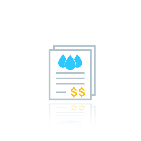water utility bills, payments, vector icon
