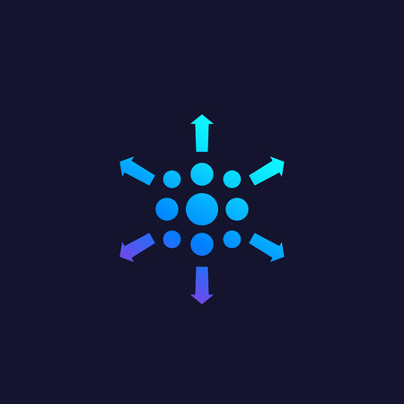 distribution process vector icon