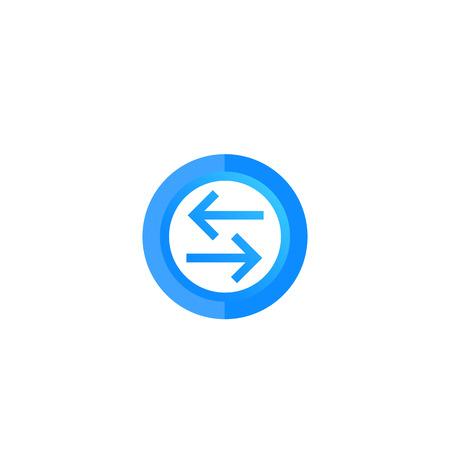 exchange, convert vector round icon Illustration