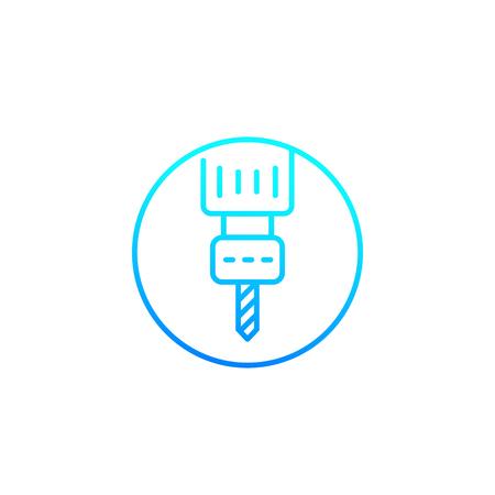 milling machine line vector icon Иллюстрация