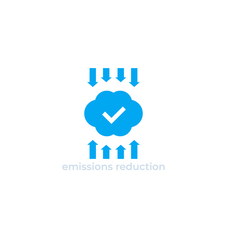 emissions reduction vector icon