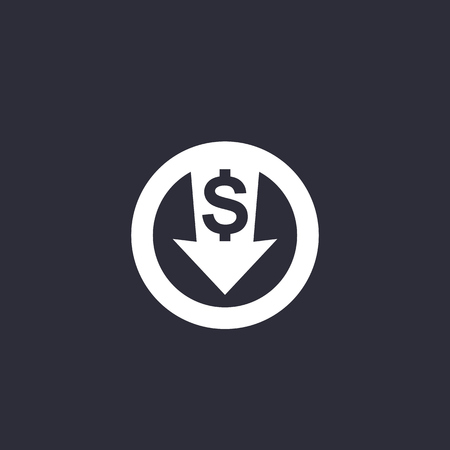 reduce costs icon Vector Illustration