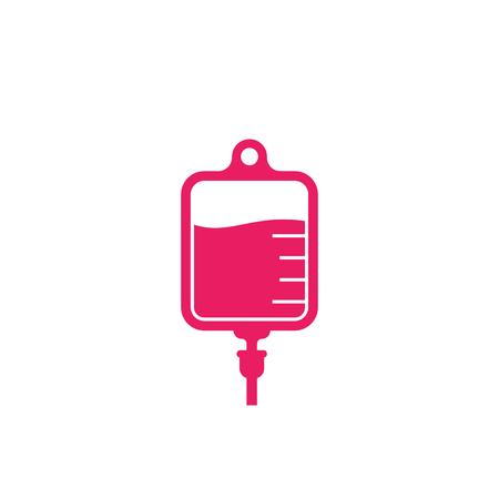 iv bag, medical drip icon Vector Illustration