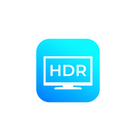 HDR, tv screen vector sign