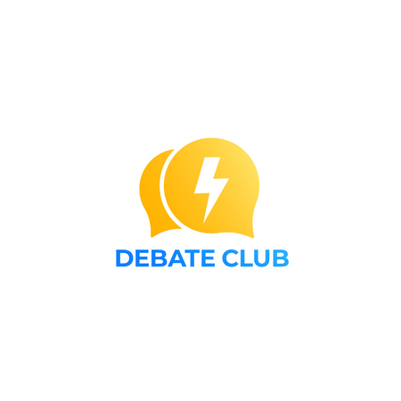 debate club vector logo