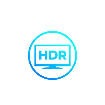 HDR, tv screen vector mark