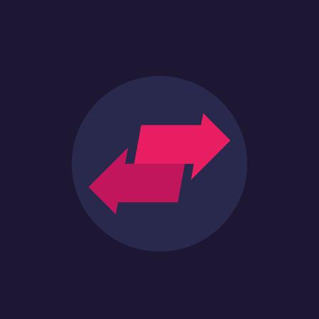 exchange, convert vector logo