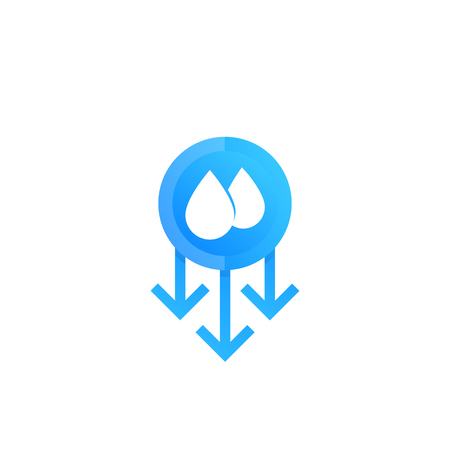 humidity level down vector icon