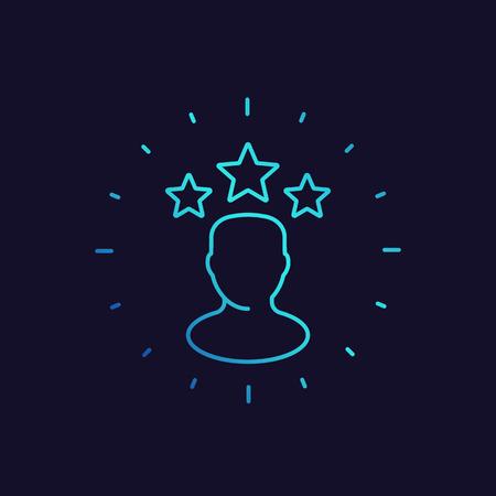 celebrity icon, linear vector Vector Illustratie