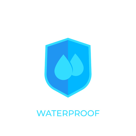 waterproof, water resistant icon on white