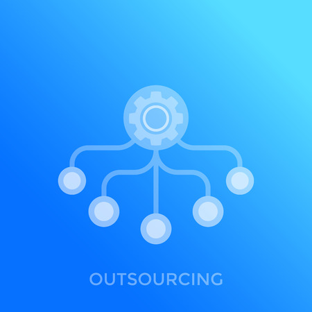 outsourcing vector icon