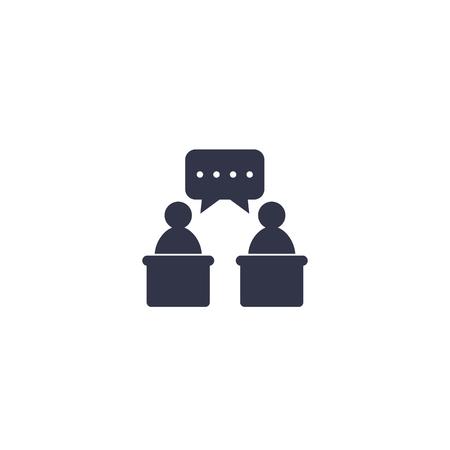 debate icon, vector symbol