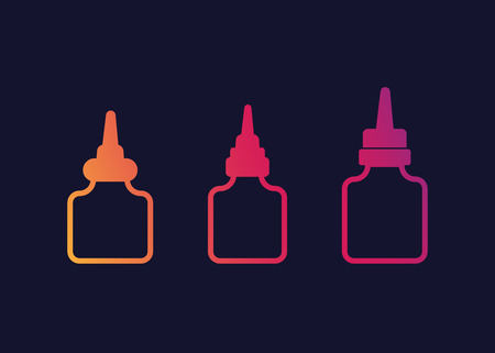 lubricant, oil for bike, lube icons Illustration