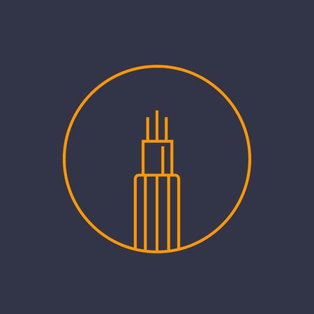 optic fiber cable line icon