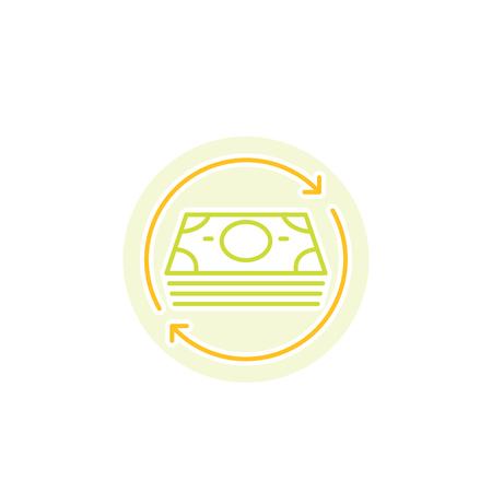 cash flow vector icon Vektorové ilustrace