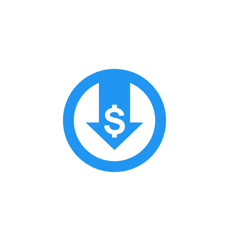 reduce costs, vector icon Иллюстрация