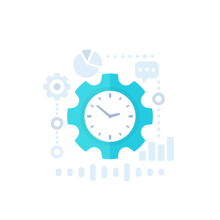 productivity, productive capacity and performance analytics vector icon