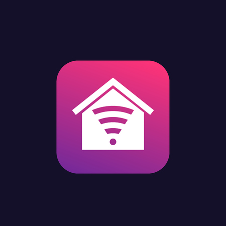 Smart house control app vector icon