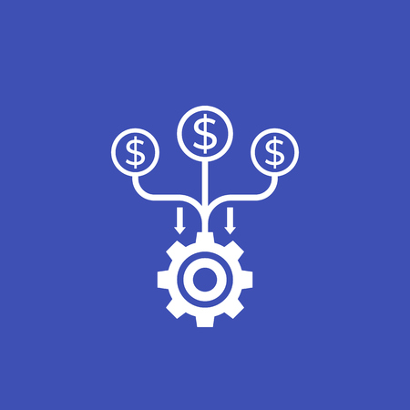cash flow, funds, costs optimization vector icon