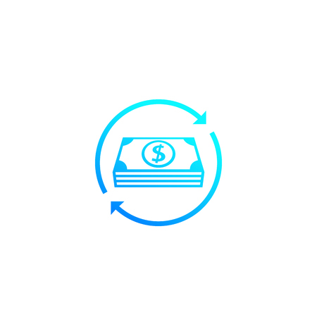 cash flow, money return icon Illustration