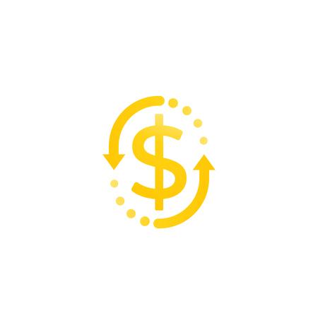 cash back, money refund, exchange, vector icon