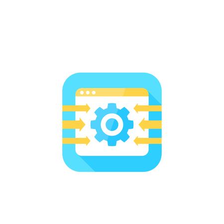 Integration system icon, vector illustration