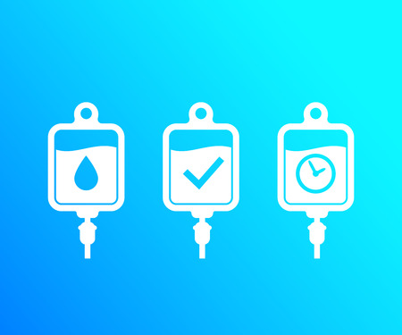 iv bags, vector icons