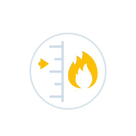 heat level vector icon Illustration