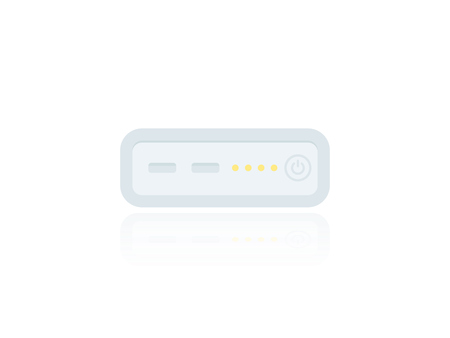power bank, portable charging device, vector Illustration