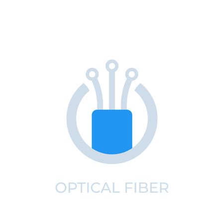 optical fiber icon, logo, vector 向量圖像