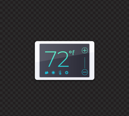 digital smart thermostat, vector Vetores