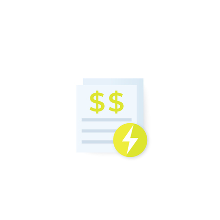 electricity utility bills vector Banque d'images - 118737199
