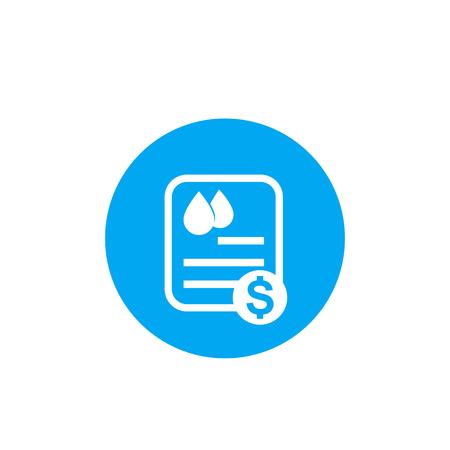 water utility bill icon, vector