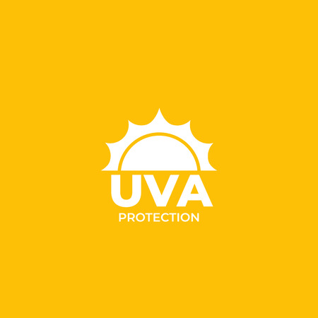 UVA protection vector label