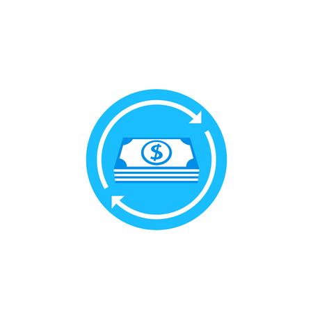 cash flow, money return vector icon