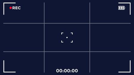 Camera screen frame, video recording, vector