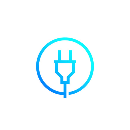 electric plug, power, line vector 矢量图像