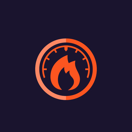 heat level meter icon