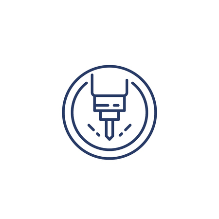 milling machine line icon, vector 矢量图像
