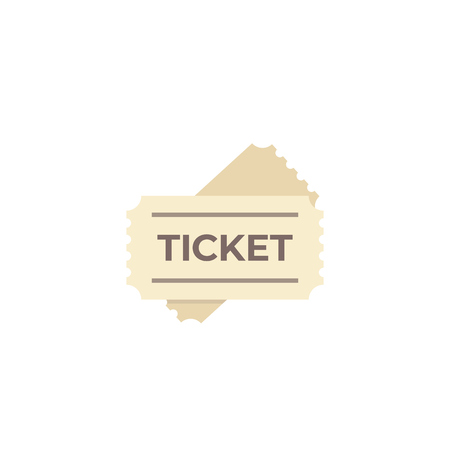 ticket icon on white Banque d'images - 125254511