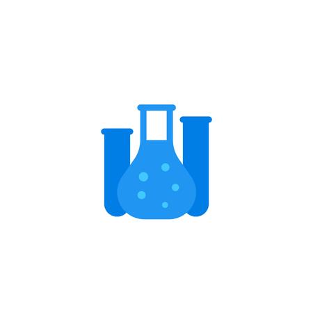 lab glass tube, icon on white