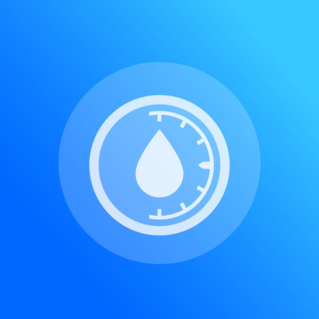 humidity vector icon, water level control