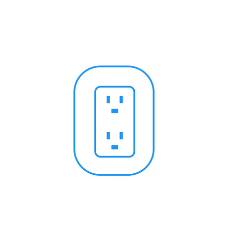 uk, british socket for two plugs, vector