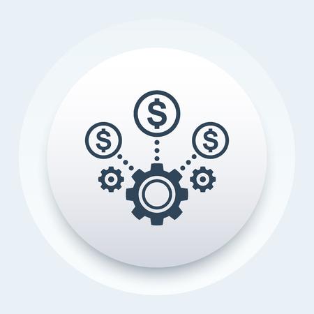 costs optimization, business efficiency icon Vektoros illusztráció