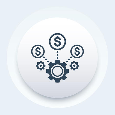 Kostenoptimierung, Business-Effizienz-Symbol Vektorgrafik