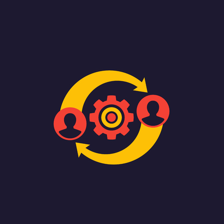 HR, management icon, vector