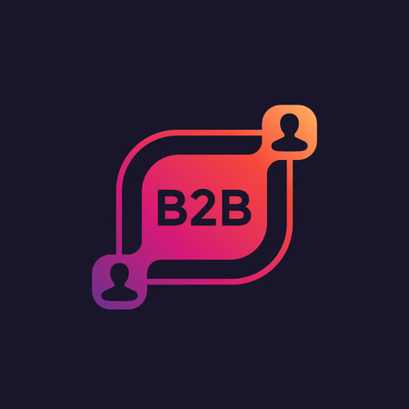 b2b commerce vector illustration