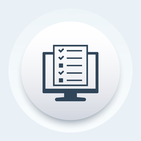 online survey or tests icon