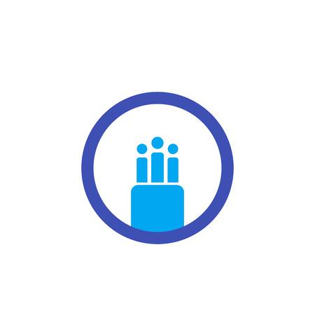 optical fiber cable vector icon, logo