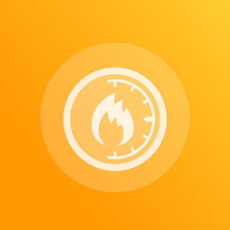 heat level meter icon, vector